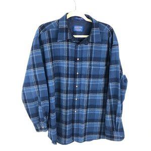 Vintage Pendleton Shirt Flannel Jacket Made in USA